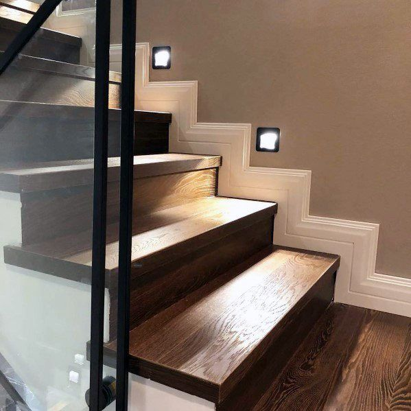 Top 70 Best Painted Stairs Ideas: Top 60 Best Staircase Lighting Ideas