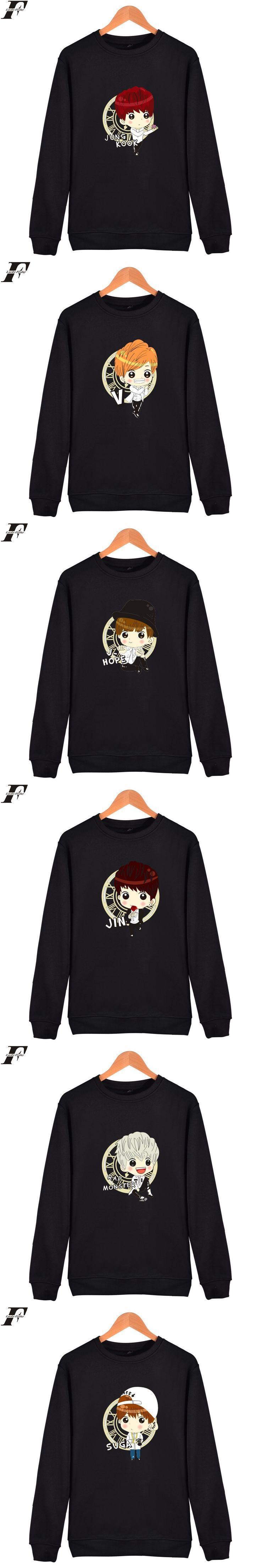 harajuku BTS Kpop printed hoodie Sweatshirt Hoodies moletom masculino Autumn Korean Bangtan boys tracksuit Hoodies men V Jin