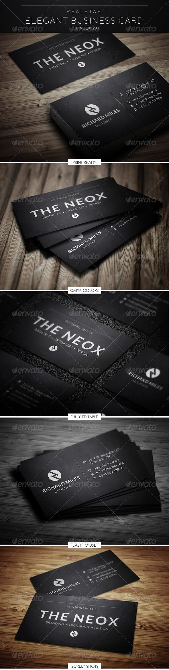 84 best print templates images on pinterest print templates the neox 2 corporate business card reheart Images