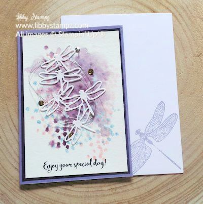 Tip Thursday with Dragonfly Dreams Water Spritzing (Video) Love the watercolor background!