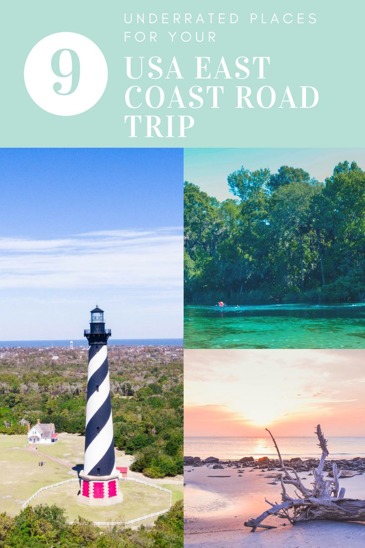 Heading on an american east coast road trip? Here are 9 places you cannot miss while you're on your USA Road trip. Including North Carolina, Florida, Georgia and more!