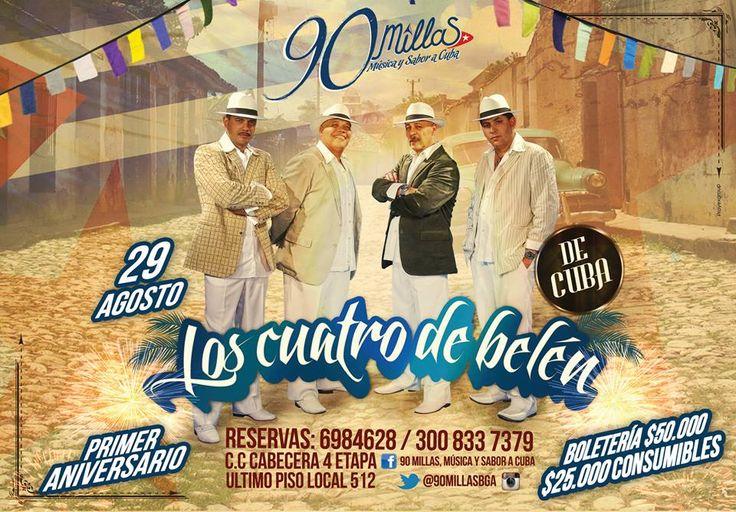 Recuerda que mañana 29 de agosto, 90 millas cumple su primer aniversario, ven y disfruta la diferente gastronomía y buena música que tiene para ti. #lunch #almuerzo #evento #music #musica #people #men #hombre #mujer #latina #women #friends #amigos #relax #time #bucaramanga #cccuartaetapa  90 millas