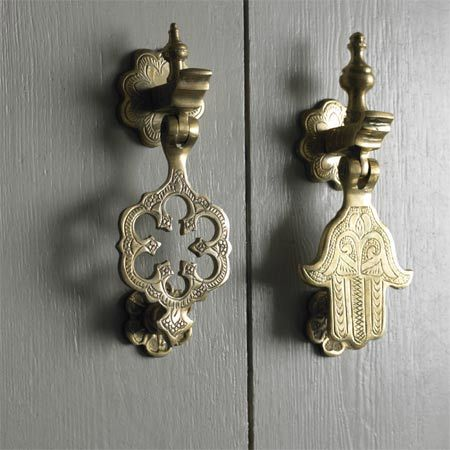 Moroccan  and Chinoiserie door knockers