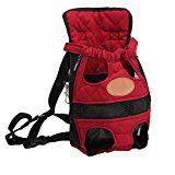 YOUJIA Mochila Bolsa para Perro Gato Mascota, Viaje Bolsa de Transporte - Color sólido Rojo, S (28*18cm)