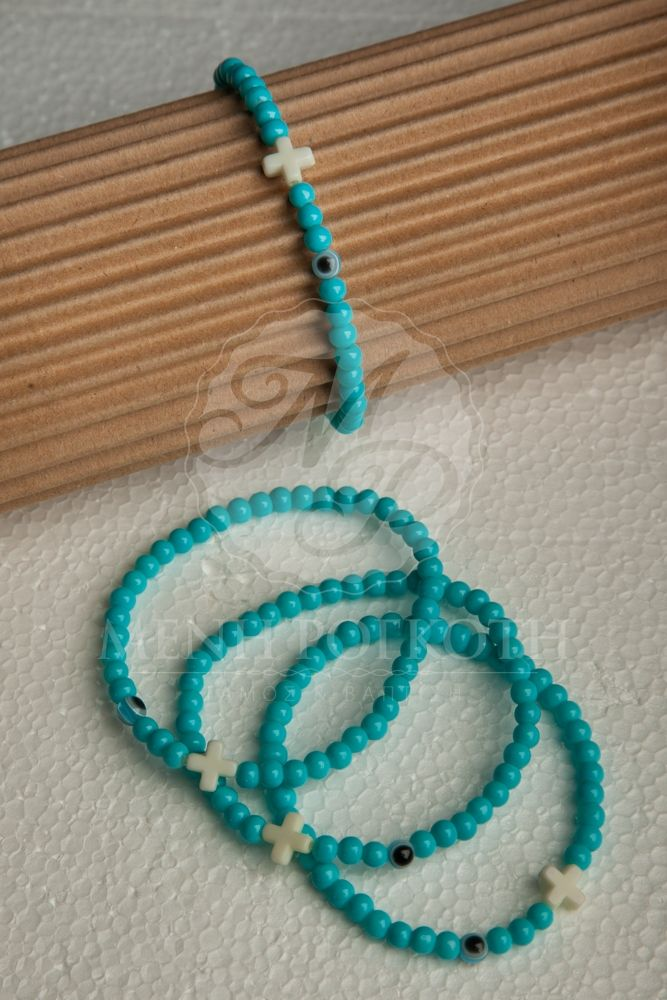 Witness bracelets - martyrika for boys wtih cross and mati