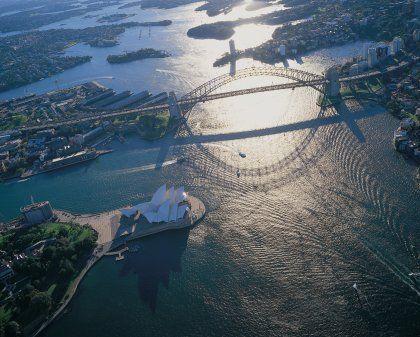 Aerial Sydney Harbour