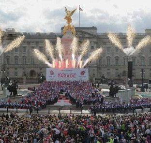 The Olympic Athletes Parade - Buckingham Palace