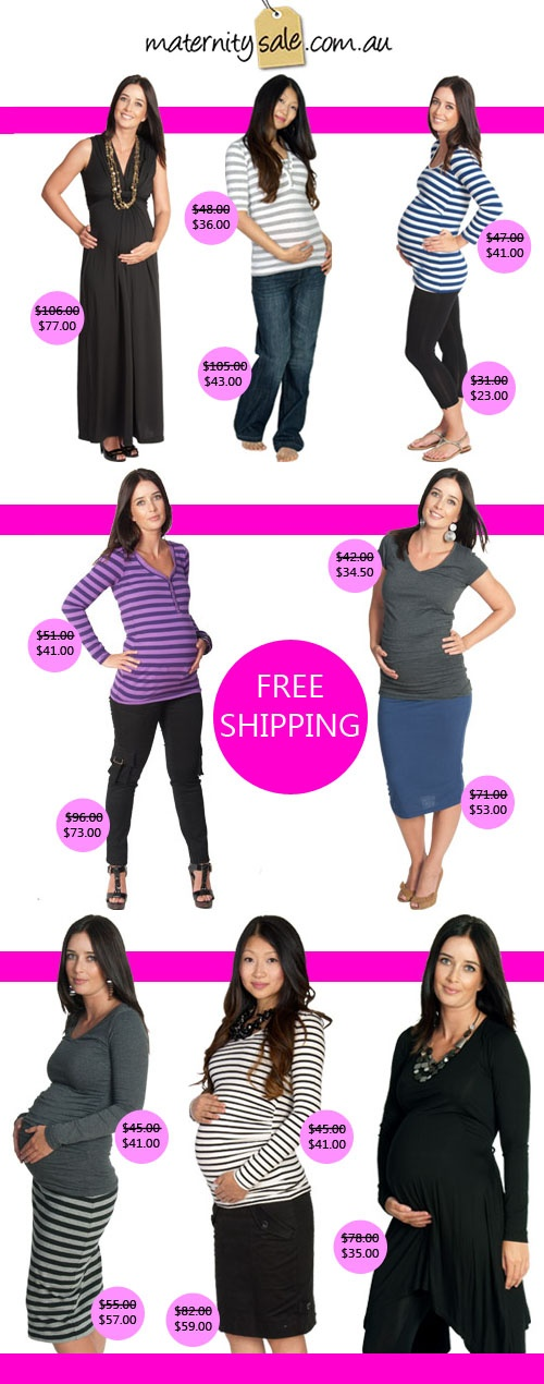 Maternity Sale - Stylish & Affordable Maternity Clothing: Up To 78% Off Sale + FREE Shipping