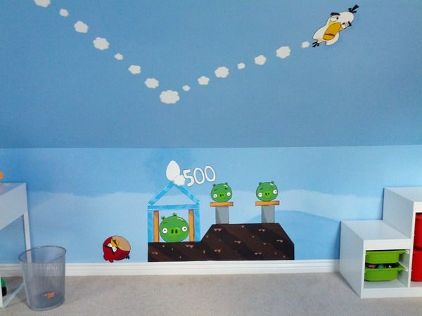 The 25 best cheap wall decals ideas on pinterest cheap for Angry bird wall mural