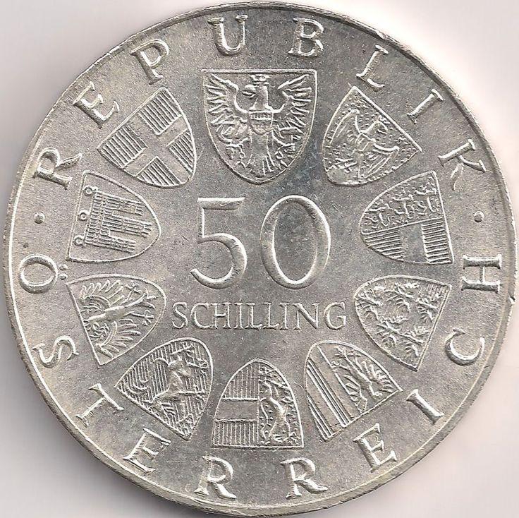 Wertseite: Münze-Europa-Mitteleuropa-Österreich-Schilling-50.00-1974-Dom zu Salzburg