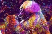 """New artwork for sale! - """" Baboon Monkey Sit Watch  by PixBreak Art """" - http://ift.tt/2v7r6g9"""