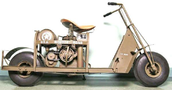 Cushman Auto Glide Motor Scooter for Airborne Troops