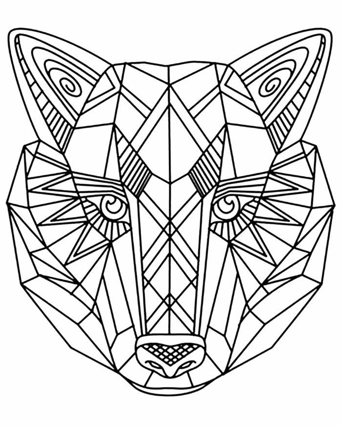 malvorlagen erwachsene geometrisch  bilder ausmalen