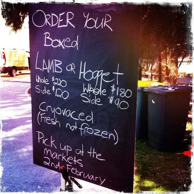 Great signage from Macabee Dorper Lamb for their lamb & hogget boxes!