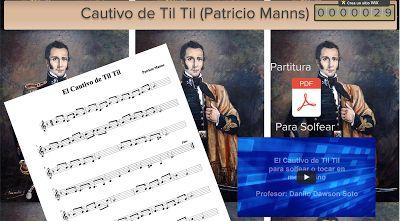 PARTITURAS A TU DISPOSICIÓN: CAUTIVO DE TIL TIL (PATRICIO MANNS)