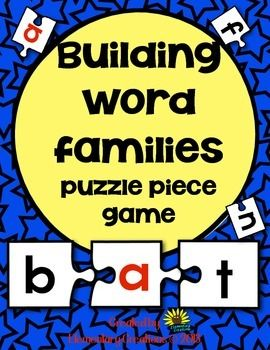 This is a great activity for the students to build word families. This packet is a three puzzle piece game that you can put in the literacy center, or use for small groups. This packet includes all short a,e,i,o,u CVC sounds.With this game the student can work on beginning sounds, blends, vowels and ending sounds when putting the word together.I have provided two different handout that can be placed in the center for the student to build their word on.