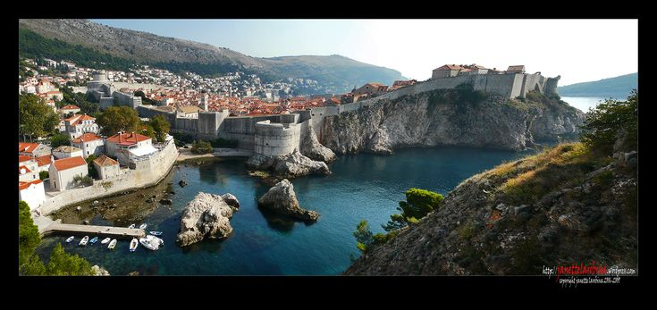Dubrovnik is a Croatian city on the Adriatic Sea coast positioned at the terminal end of the Isthmus of Dubrovnik.