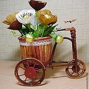 Букеты из конфет.Велосипед.