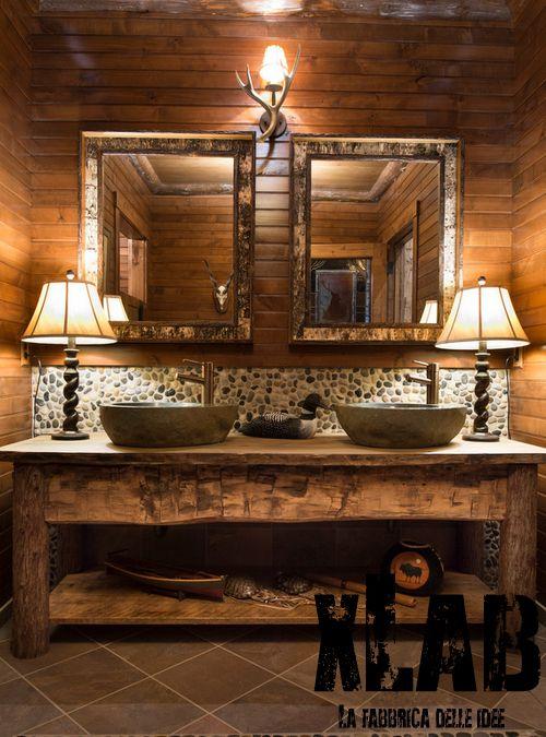 Arredo bagno mobile OLD Style in legno massello vintage, un mobile da ...