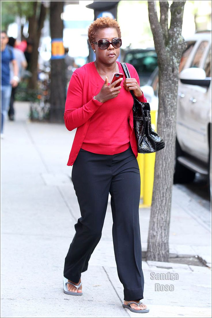 ABCTV Viola Davis arriving on the set of 'The Disappearance of Eleanor' ##HTGAWM