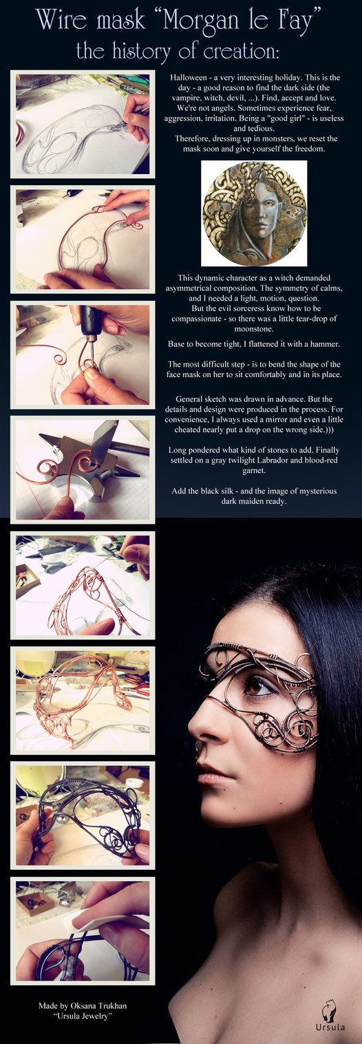History of creation by UrsulaOT on deviantART  // wire wrap mask tutorial