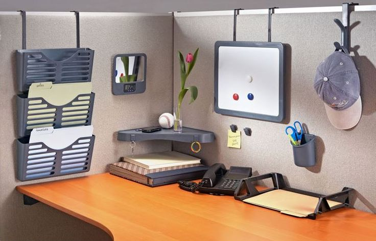 DIY Cubicle Organization