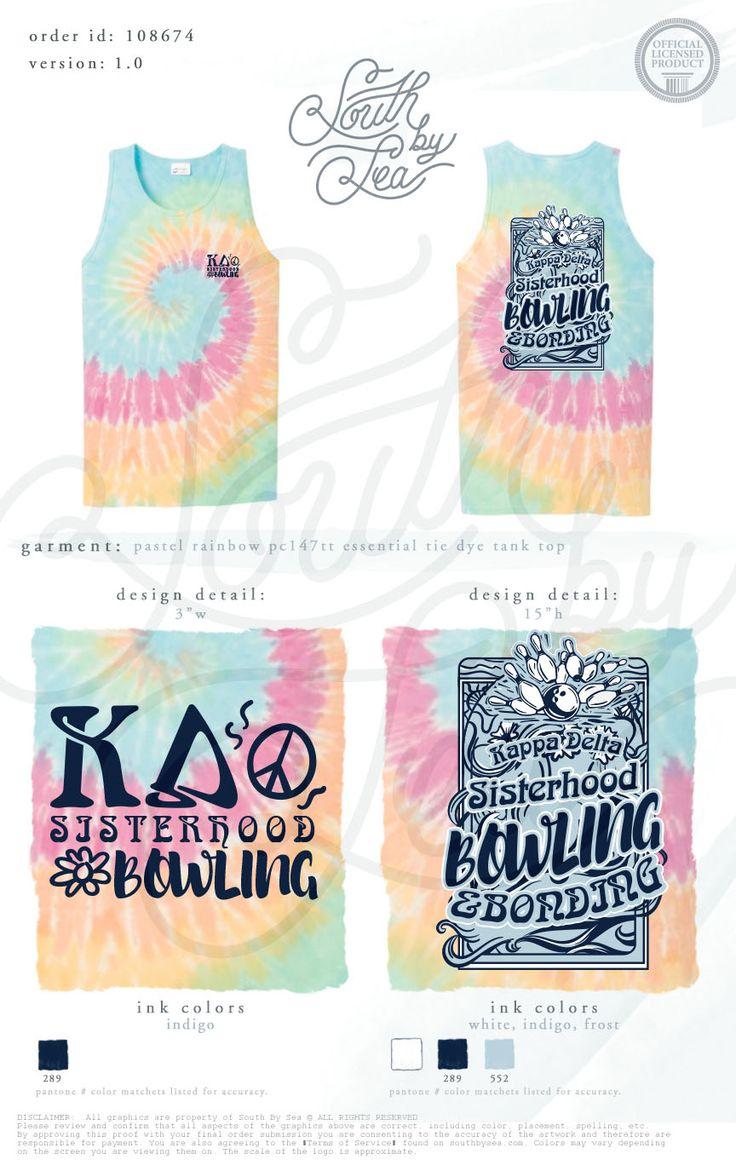 Dart shirt design your own - Kappa Delta Kd Sisterhood Bowling Tank Tie Dye T Shirt Design