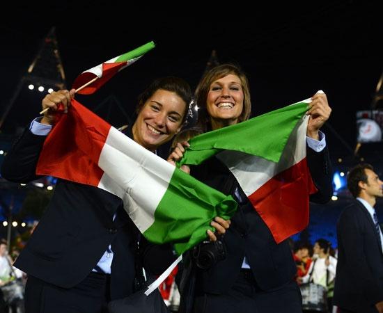 Cerimonia inaugurazione: parata dell'Italia