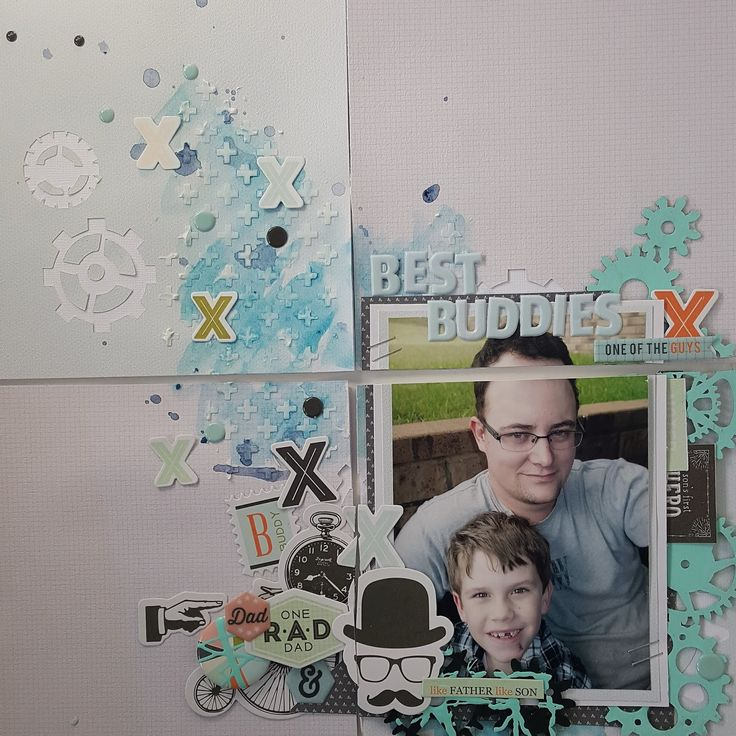 Helloooo Crafty Friends,     I would love to share a Project Life Layout I created using Scrapmatts' Chipboard CB2013 , Fancy Pants Designs...