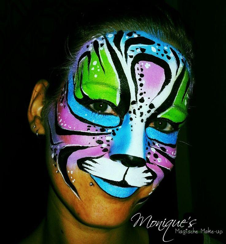 Face paint / schmink tiger / tijger design by Monique's Magische Make-up www.magischemakeup.nl