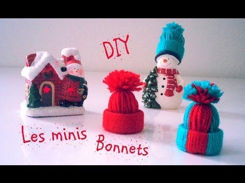 D.I.Y Déco Noël Les minis bonnets en laine - YouTube