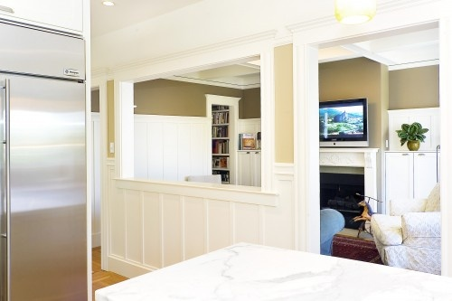 pass through wainscotingBathroom Design, Dining Room, Kitchens Wall, Traditional Kitchens, Living Room, Families Room, Cut Out, Half Wall, Wall Design