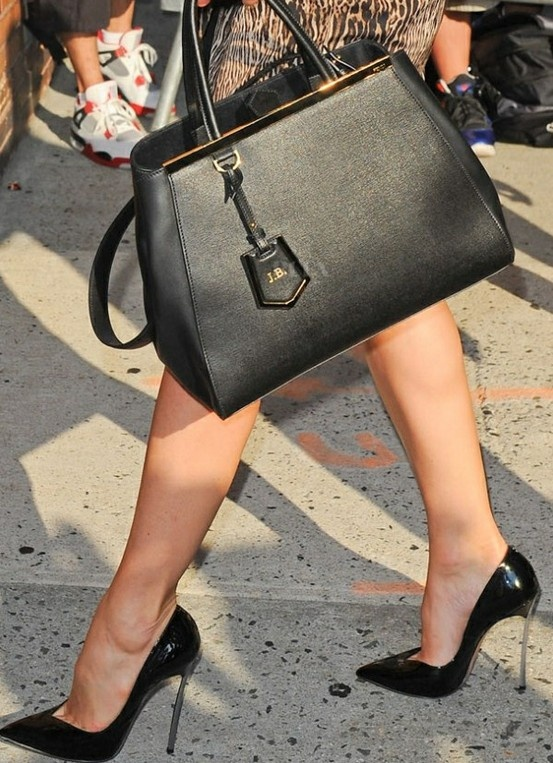 Fendi 2Jours Bag | love how it's personalized with your initials.