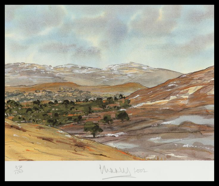 HRH The Prince of Wales Ballochbuie, Balmoral, April Limited Edition Signed Lithograph  57 x 51 cm £6000