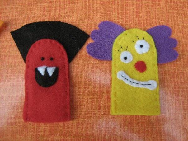 Creación de marionetas de dedo