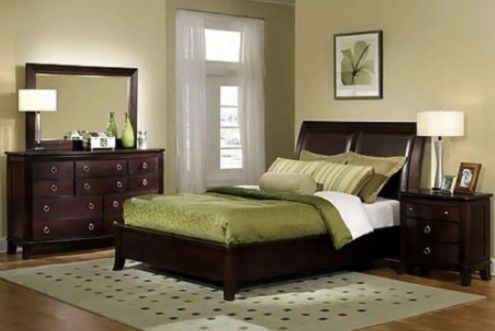 Beige and Olive green is such a beautiful combination!   http://cqjypm.com/soft-and-romantic-bedroom-interior-decorating-ideas/bedroom-design-excellent-design-master-bedroom-paint-colors-interior-inspiration-with-excellent-design-master-bedroom-paint-colors-interior-inspiration-with-beige-wooden-flooring-and-dark-furniture/