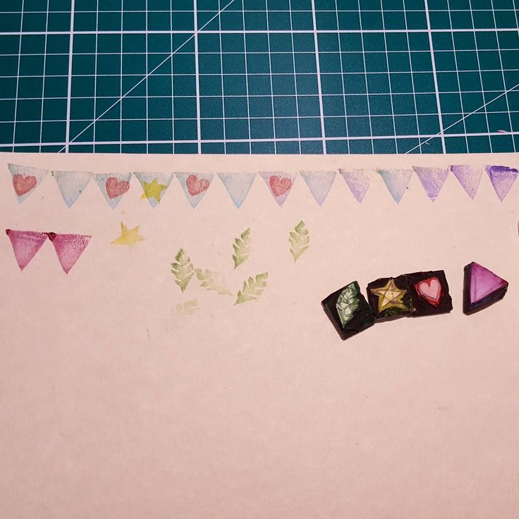 #100happydays Day 35: I made some little stamps 😊