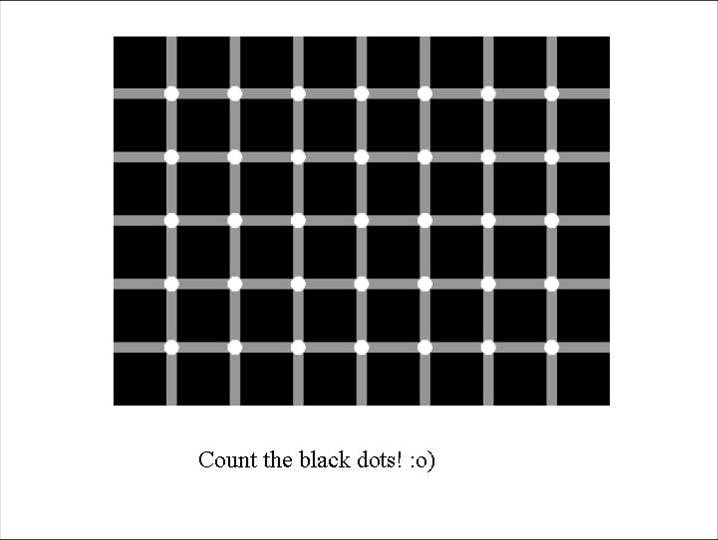 try and count the black dots! :o)