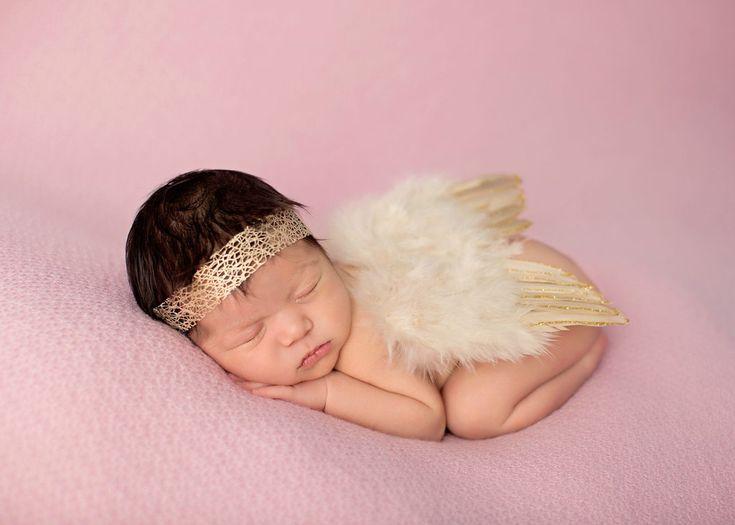 Gold Glitter Feather Wings Newborn Baby Photo Prop | Beautiful Photo Props