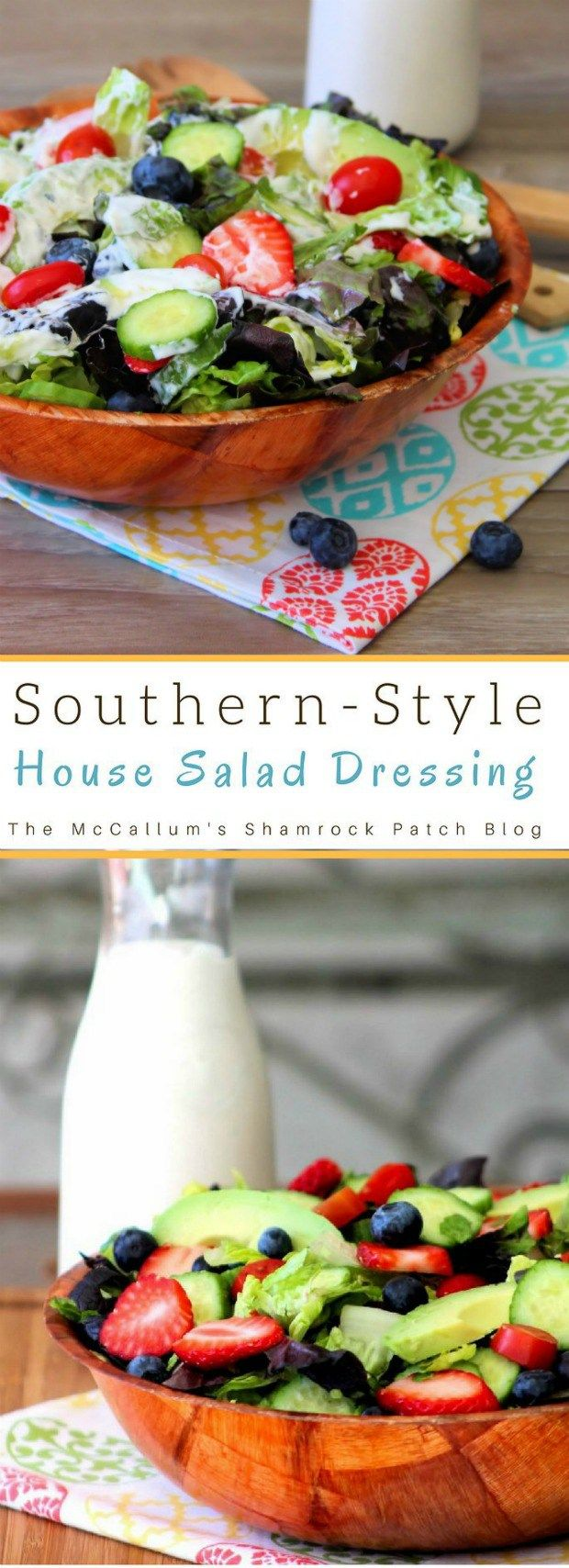 Southern Buttermilk Salad Dressing is a deliciously easy, flavorful, homemade, Southern-Style salad dressing that our family has made for years to enjoy over our favorite salad greens and fixings. Made with buttermilk, creamy mayonnaise, Dijon mustard, organic apple cider, and fresh herbs, Southern Buttermilk Salad Dressing brings a tempting flavor burst to any salad