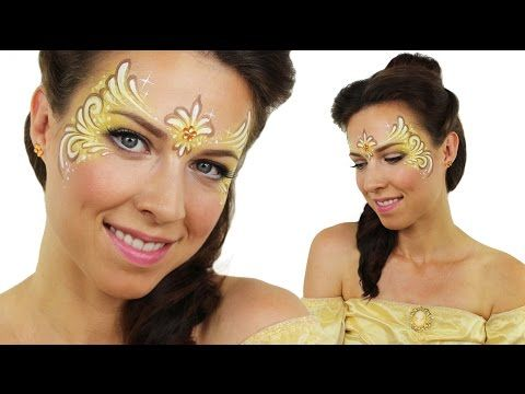 Belle | Disney Princess Face Painting Tutorial - YouTube