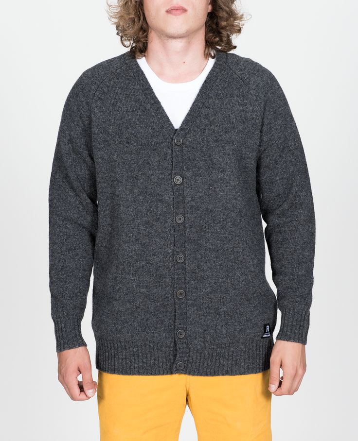 R-Collection Fisher cardigan 100% shetland wool