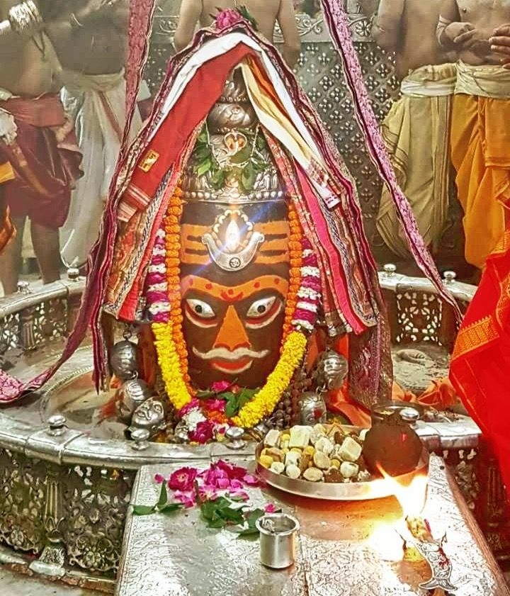 #Bhasma #Aarti pic of Shree #Mahakal #Ujjain - Apr. 02             Follow our FB page: www.facebook.com/ujjaintravel  #शिव #उज्जैन #महाकाल #ॐ #mahakal#mahakalcity #ujjain #loveujjain #ujjaindiaries#Mahakaleshwar #shiv #shivratri #shiva#omnamahshivay #bholenath #jaimahakal#jaibholenath #harharmahadev #mahadev #travel#tourism #MPTourism #ujjain_travel #temple