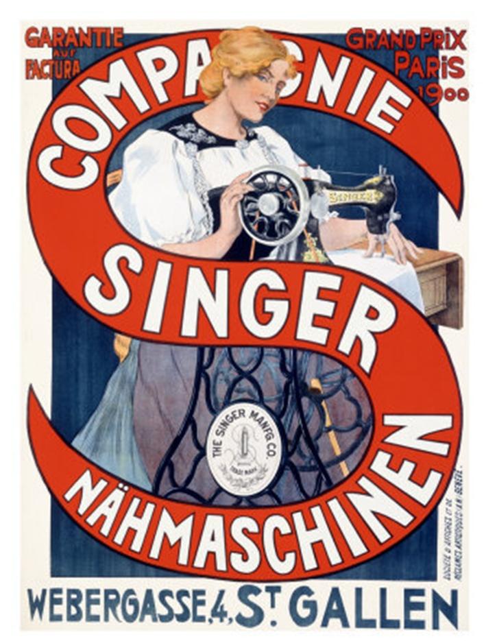 Since 1850, singer machine.
