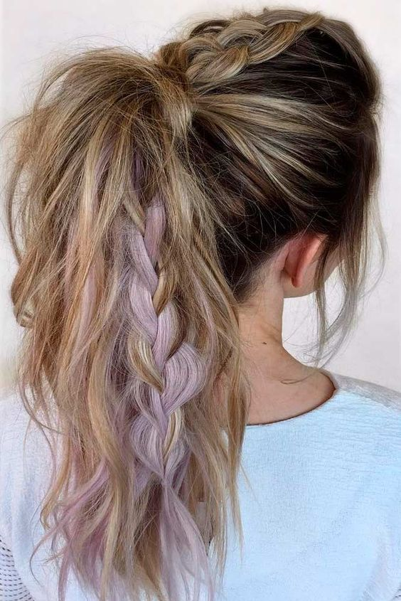 This hairstyle is so cute and so perfect for the gym! (Credit: Love Hairstyles)