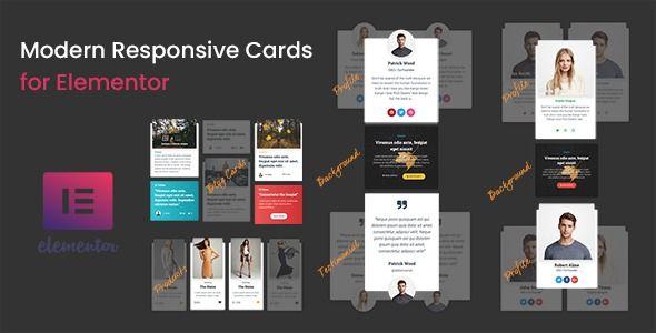 Modern Responsive Cards For Elementor Modern Responsive Cards