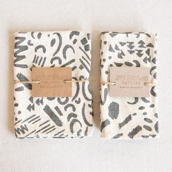 Kitchen Linens - Charcoal