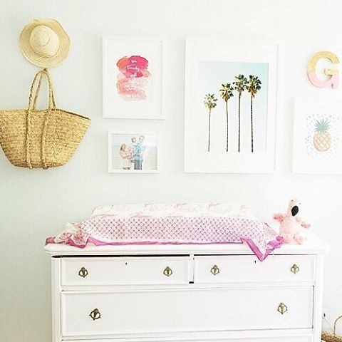 This nursery has us ready for some tropical fun in the sun! Thanks for sharing @purejoyhome!