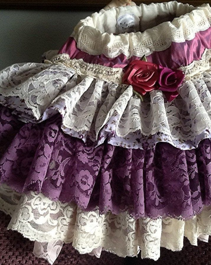 Easter Sunday , Birthday party orchid lavender vintage lace baby ruffled  skirt by Rosanna Hope For Babybonbons The Emily