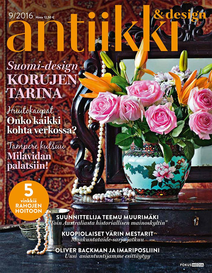 Antiikki & Design 9/2016 Style Irene Wichmann Photo Pia Inberg